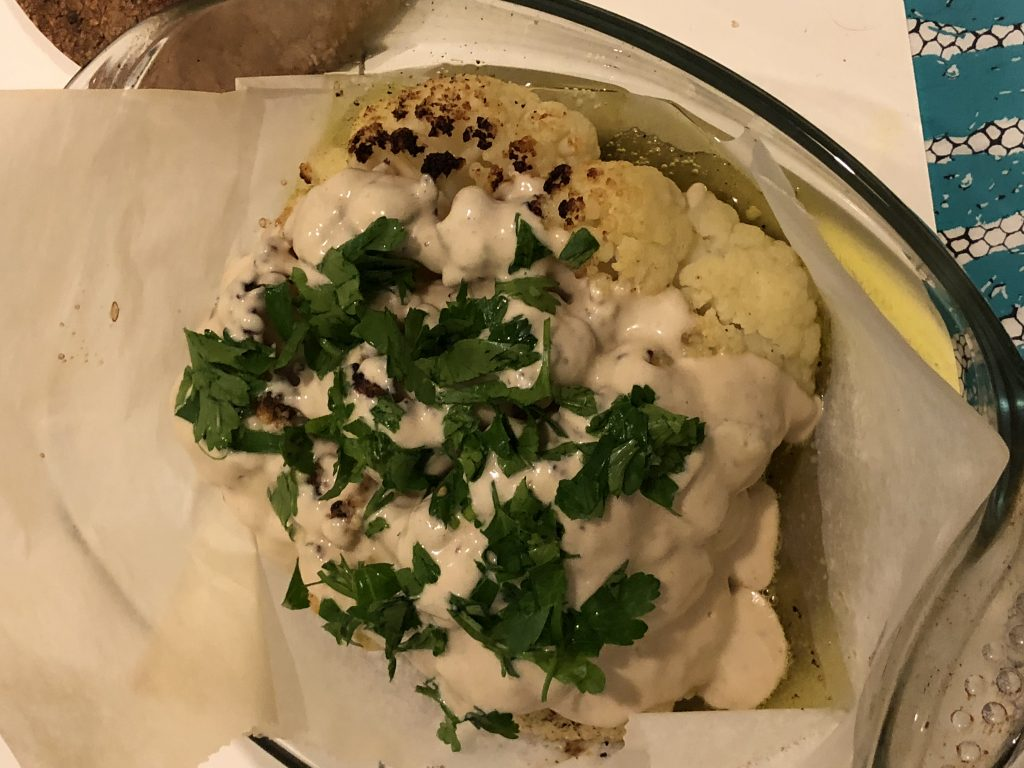 Cauliflower with Anchovies tahini